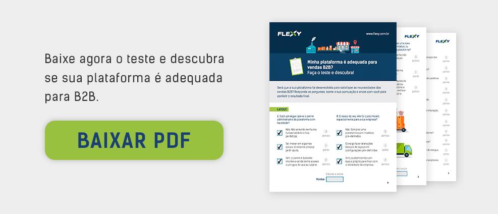 Teste para plataforma de e-commerce B2B.